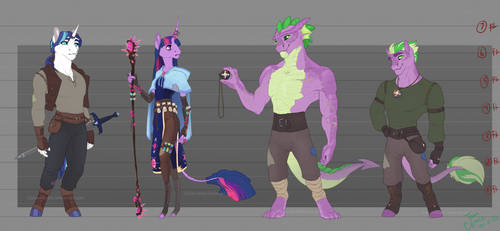 Medieval AU -- The Sparkle Family
