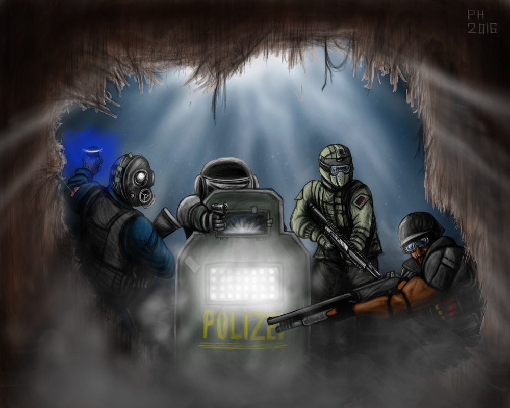 IQ - Rainbow Six Siege (Double exposure) by CptDopeY on