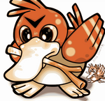 Pokemon Red - Classic Farfetch'd Redrawn by AltiaStudio