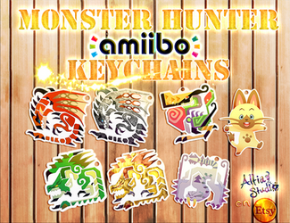 Monster Hunter Amiibo Keychains Available by AltiaStudio