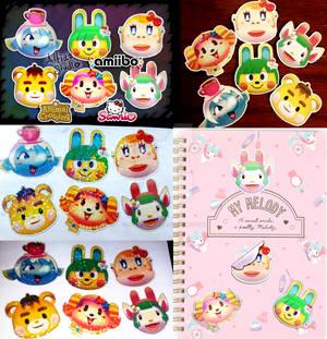 Animal Crossing x Sanrio RV Character Stickers