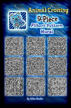 XL Animal Crossing Pattern - 9 Piece Filbert Mural