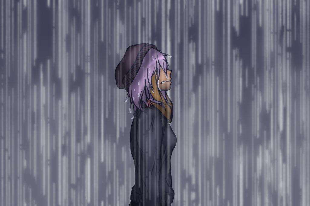 Charlotte - Stand In The Rain (speedpaint!) by MadameFluttershy