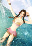 FFVII Remake-Aerith-Play in the water by Vera-White