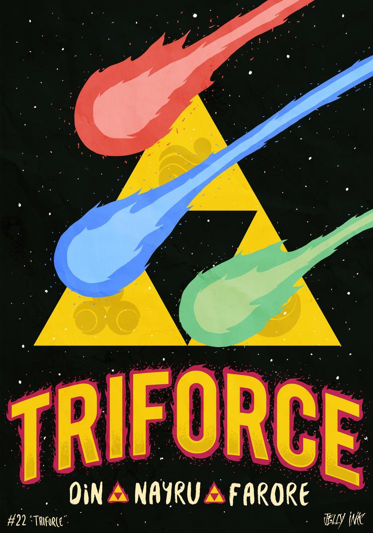 30DaysOfZelda - Triforce by JellyInk