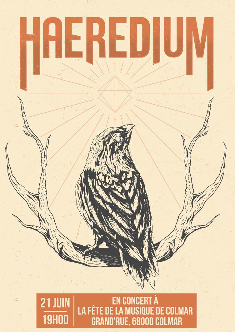 Gig poster - Haeredium by JellyInk