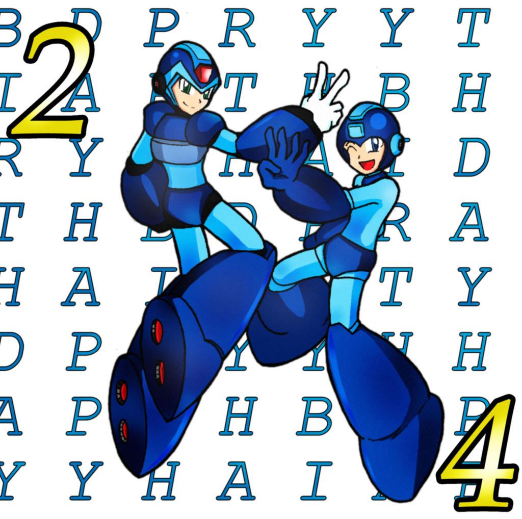 Happy 24th birthday Mega Man by SaitoKun-EXE