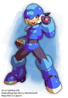 MMZX OC Fanart: Rokku Mega Man Neo by SaitoKun-EXE