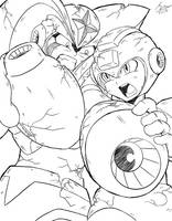 Mega Man VS Bass [WIP] by SaitoKun-EXE