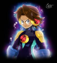 Commission: MegaMan Ultra-instinct Style by SaitoKun-EXE