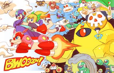 Draw Mega Man Day 2018 by SaitoKun-EXE