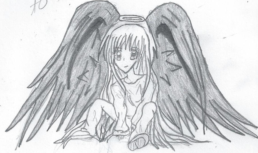 Anime Angel Girl By Skitsophraniac