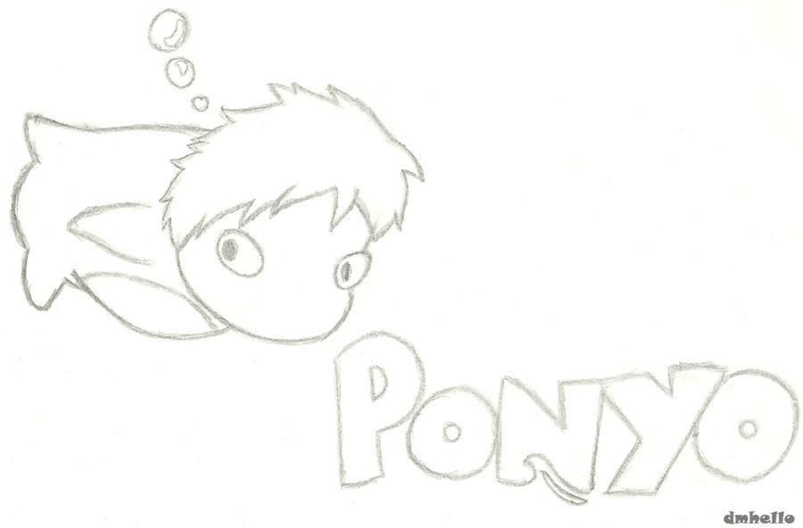Ponyo the fish coloring pages pictures to pin on pinterest for Ponyo coloring pages to print