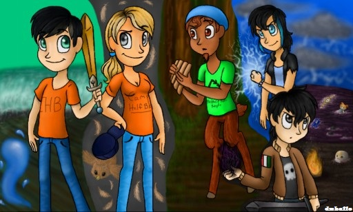 Percy Jackson Characters by dmhello