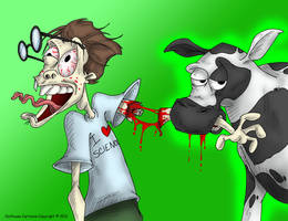 The Birth of Cowman by OuthouseCartoons