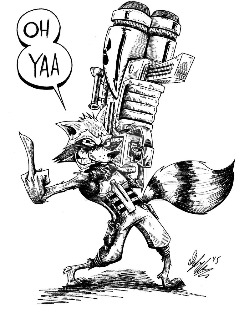 Star Lord And Rocket Raccoon By Timothygreenii On Deviantart: Rocket Raccoon By OuthouseCartoons On DeviantArt