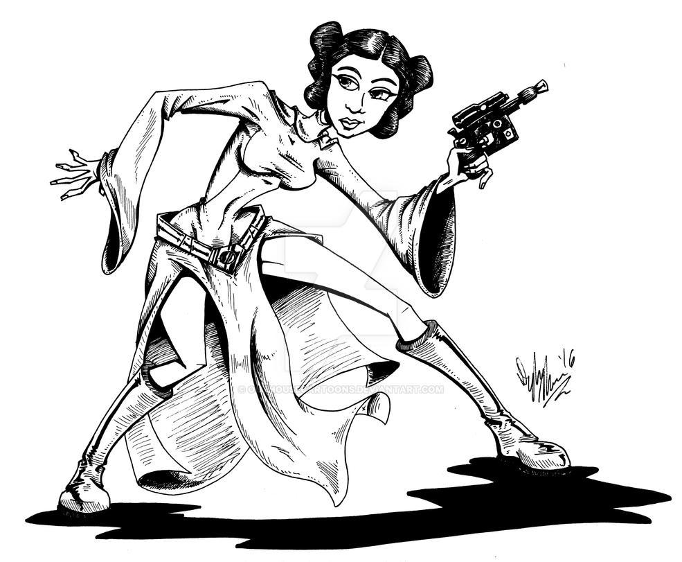 Princess Leia by OuthouseCartoons