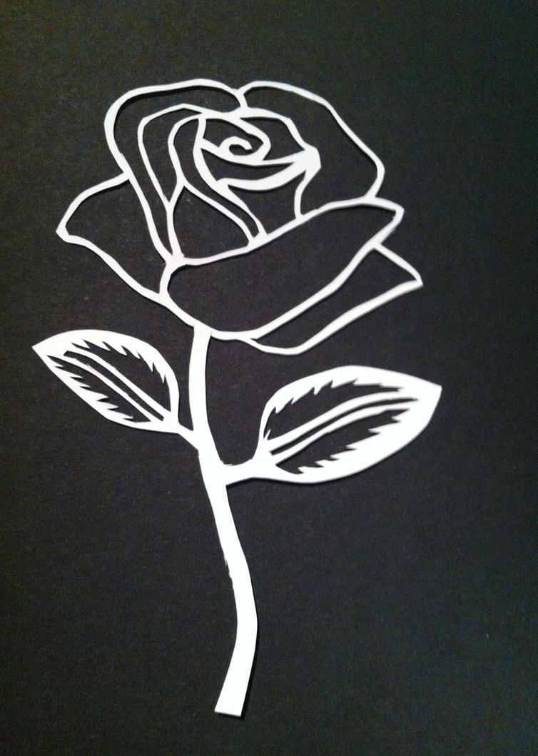 Rose Stencil by livelifeEasy on DeviantArt