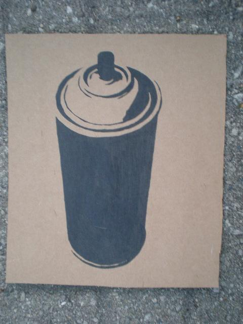 Spray Paint Can Stencil By Solkone On Deviantart