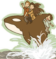 whale riding by stehfuhknee