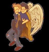 piggybackangel by stehfuhknee