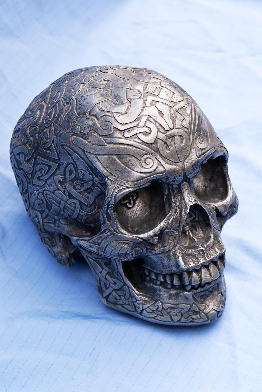 Celtic Skull 2 by wintersmagicstock