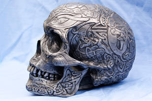 Celtic Skull Side View by wintersmagicstock