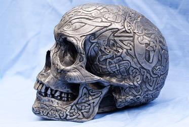 Celtic Skull Side View