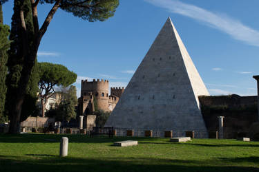 DSC 1385 The Pyramid of Cestius 1 by wintersmagicstock