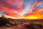 Sunset Over the Valley 2 by isotophoto