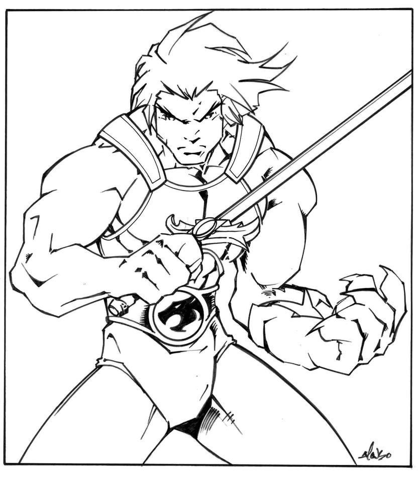 thundercats inks by luisalonso - Thunder Cats Coloring Book Pages
