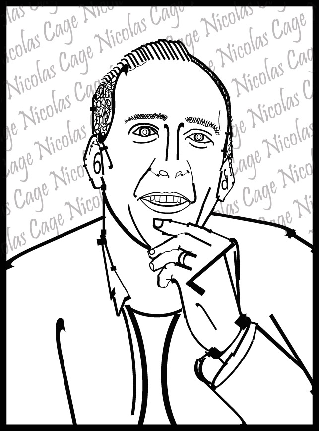 Typography Of Nicolas Cage by Live-2-Create