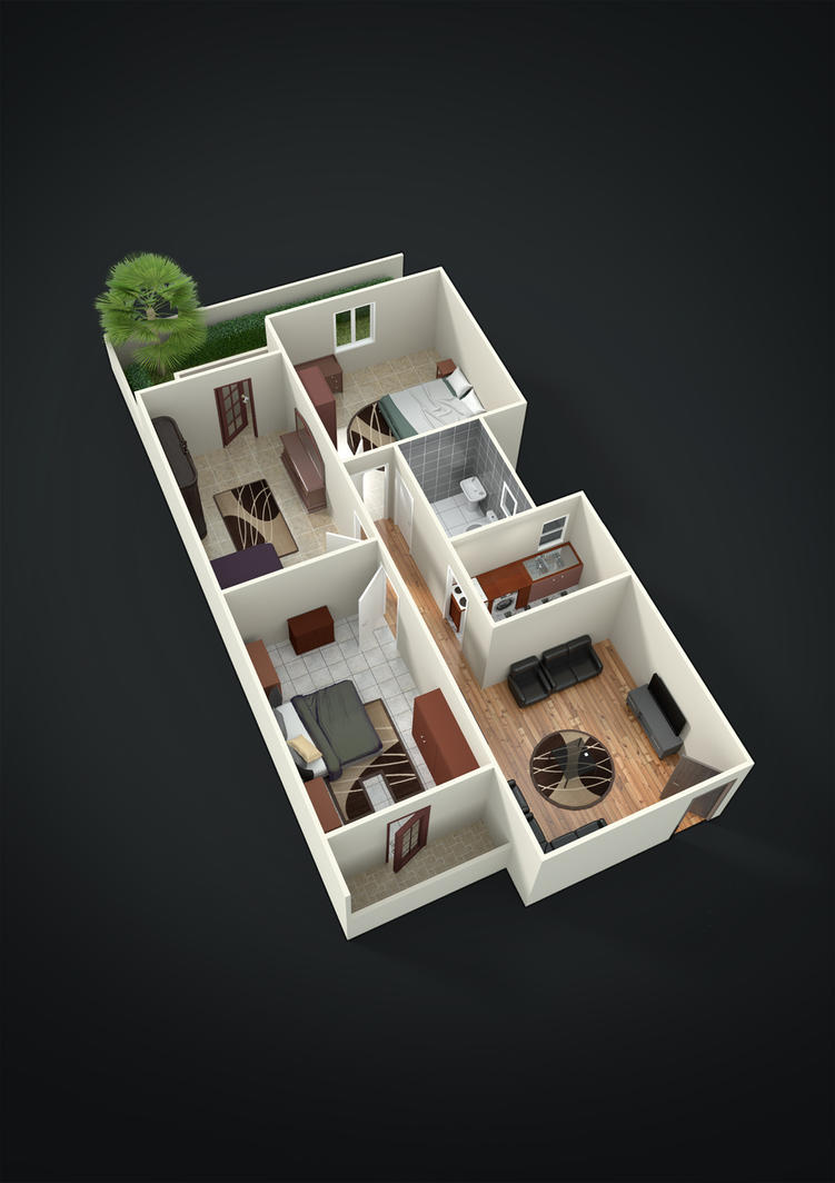 Goud Al Diar's 3D floor plan by abdollah4ever
