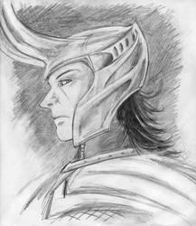 Loki pencil sketch