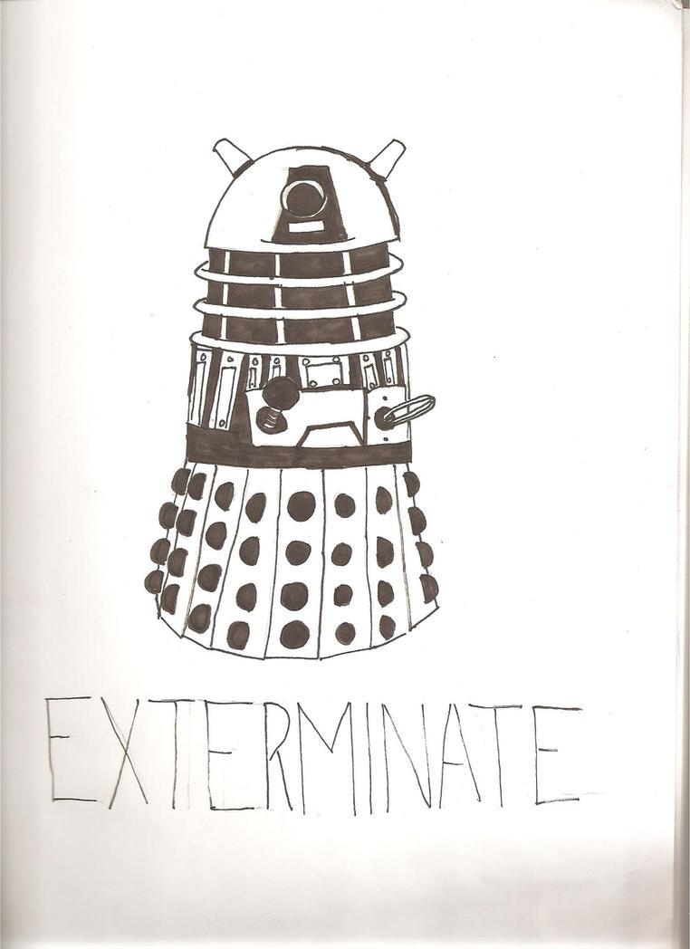 Pumpkin Pattern 2: Dalek by AmayaNightRain