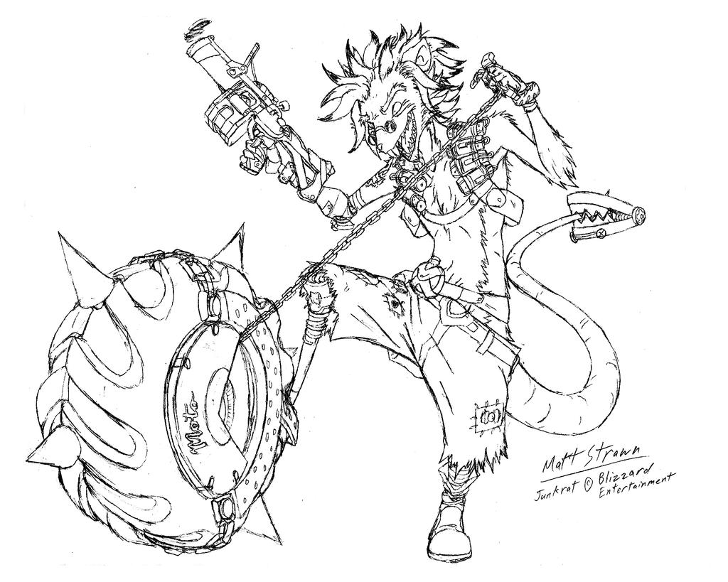 Ozzie as junkrat overwatch fan art by faullyn on deviantart for Overwatch coloring pages