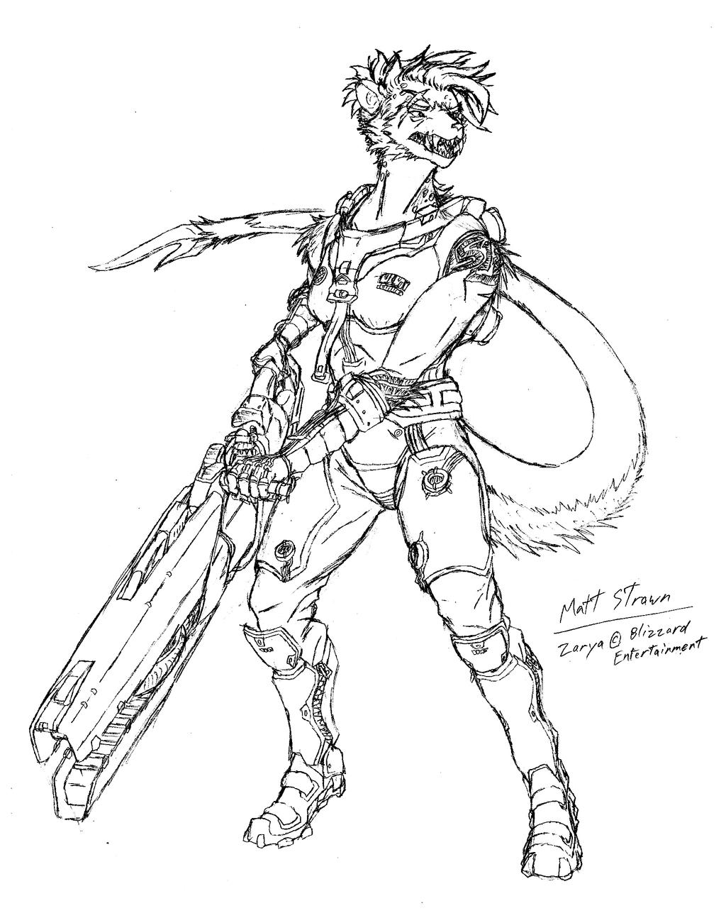 Ritka as zarya overwatch fan art by faullyn on deviantart for Overwatch genji coloring pages