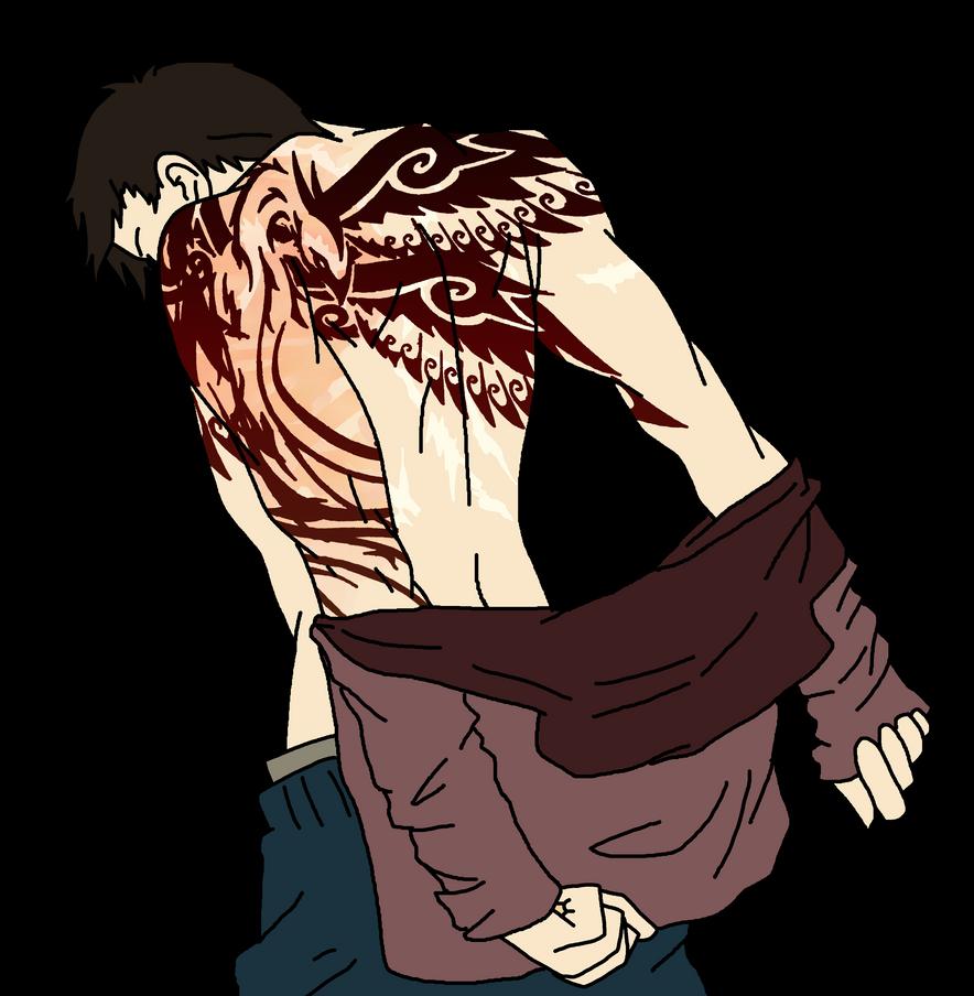 Moriaty's tattoo by yinyangswings