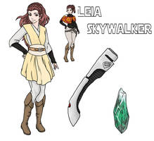 Star Wars AU: Leia Skywalker by yinyangswings