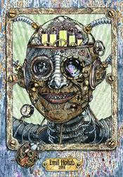 Steampunk portrait by AkdasFirst