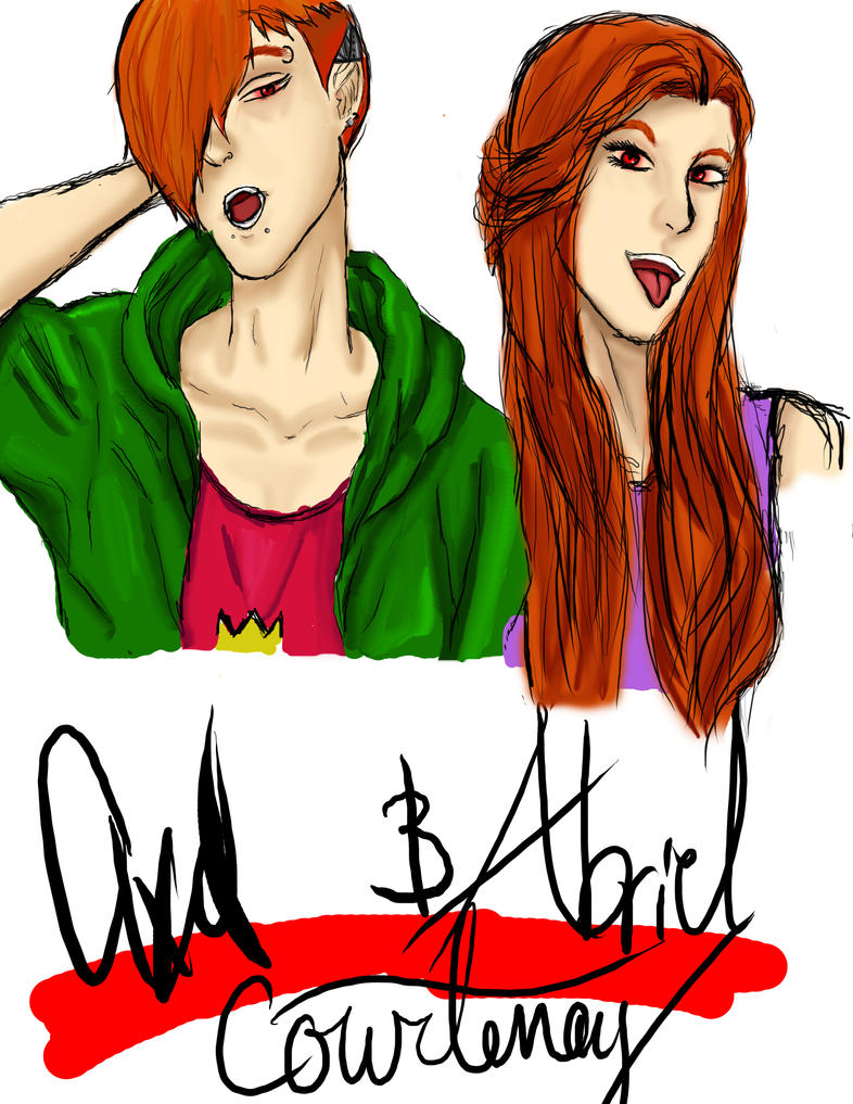 Abriel and axel by kylene-Muffinface23