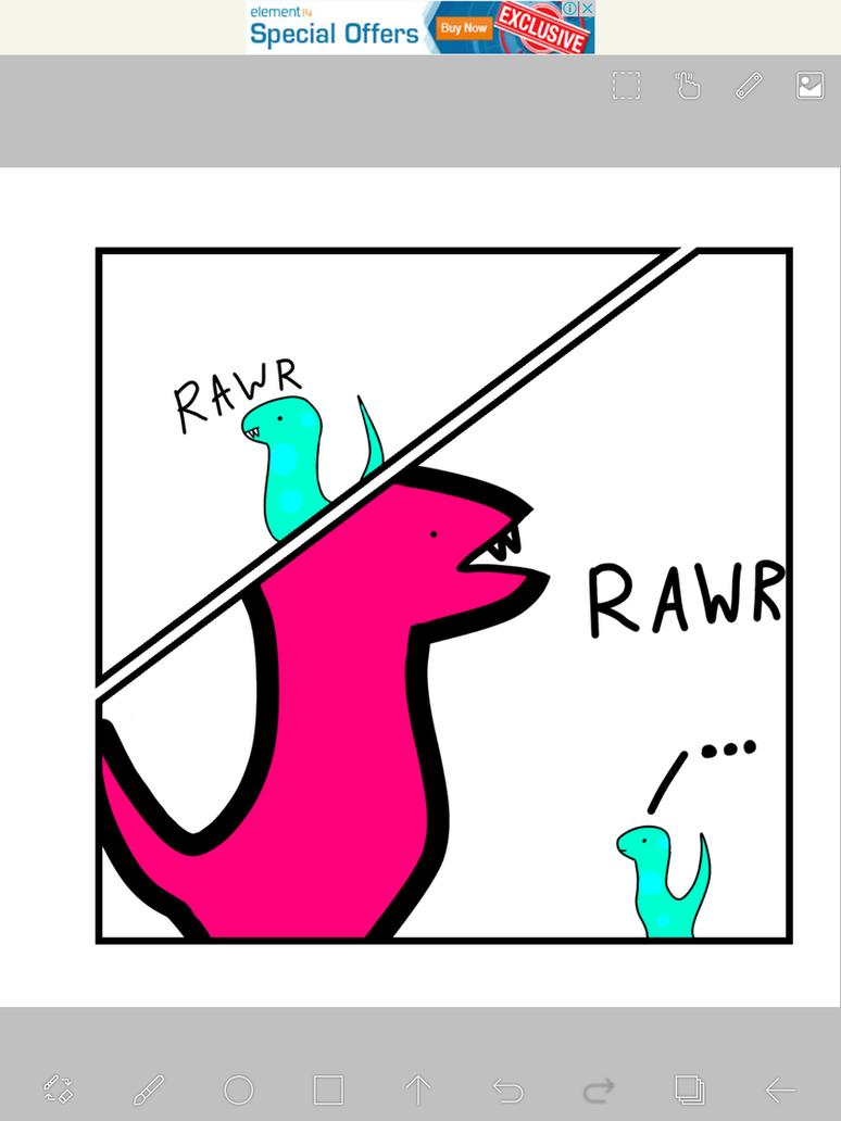 Derposaurus rex by Piplup733