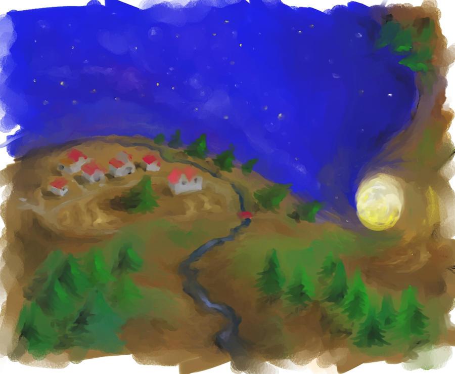 luna de la ultima  hoja by martimG