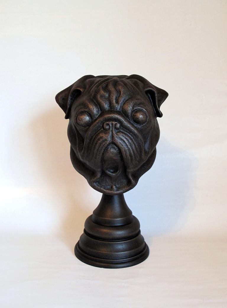 Pug Statue by Thomasotom