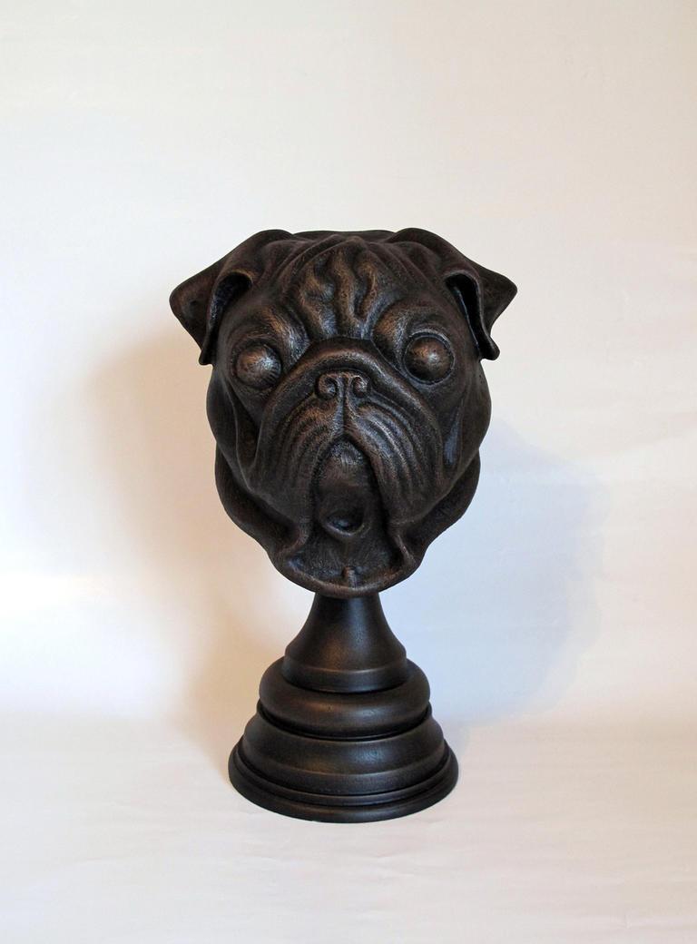 Pug Statue by Thomasotom