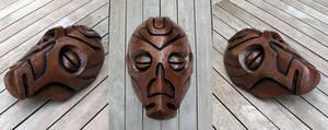 Dragon Priest Mask - Cold Cast Copper