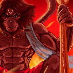 indian god hanuman concept work by sagarconcept