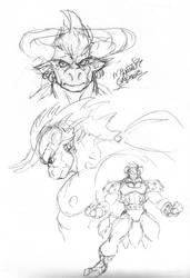 Heroic Minotaur roughs
