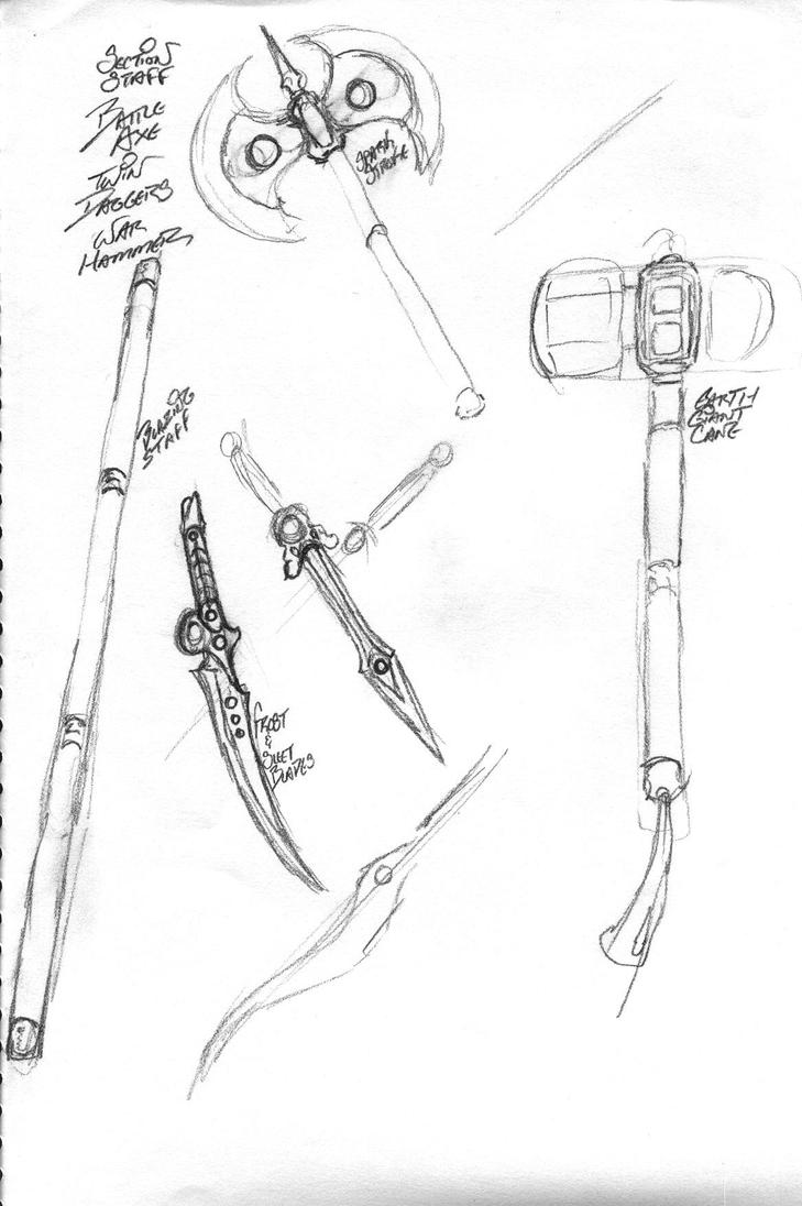 Weapons of the Four Heroes by JaeDub003