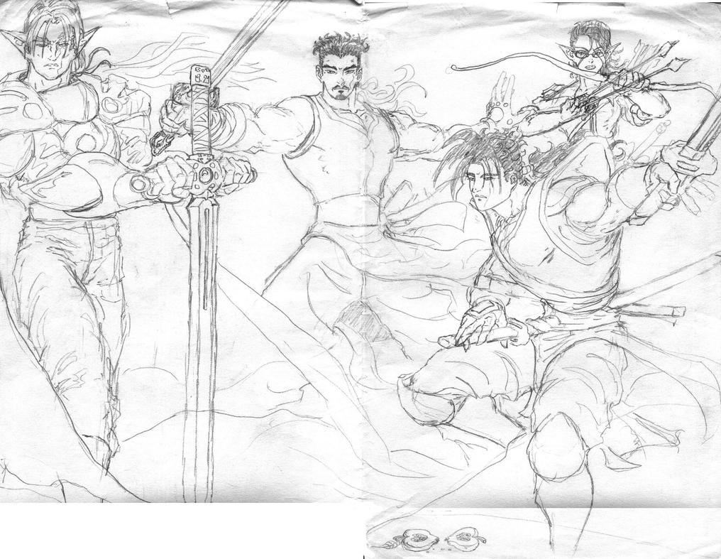 Gathering Heroes by JaeDub003